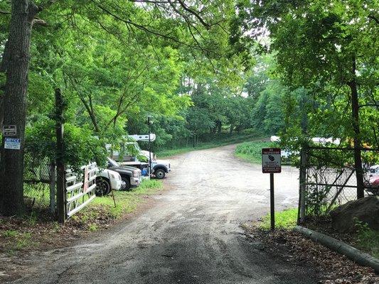 The lot at 1310 Bridgehampton/Sag Harbor Turnpike where Sag Harbor Village plans to create an impound lot.           JON WINKLER