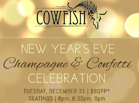Champagne & Confetti: Celebrate New Year's Eve at Cowfish