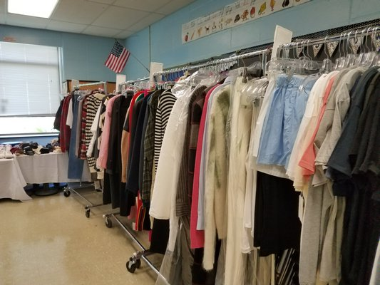 Springs School classrooms were transformed into dressing rooms and lunch rooms.  COURTESY DEBRA WINTER