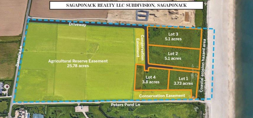 Sagaponack Realty LLC subdivision off Daniel's Lane