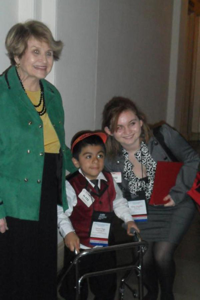 Ismael Vega visited the Capitol last week to tell his story and advocate for more musculoskeletal research funding with the American Academy of Orthopaedic Surgeons. COURTESY PATRICIA VEGA