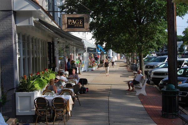 Sag Harbor Village is able to have outdoor seating