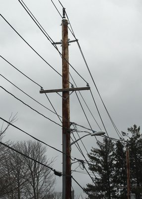 The old utility poles in East Hampton have finally been removed. KYRIL BROMLEY