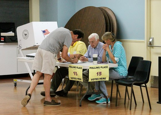 Registered Democrats in Springs cast their ballots in Tuesday's Congressional primary. KYRIL BROMLEY