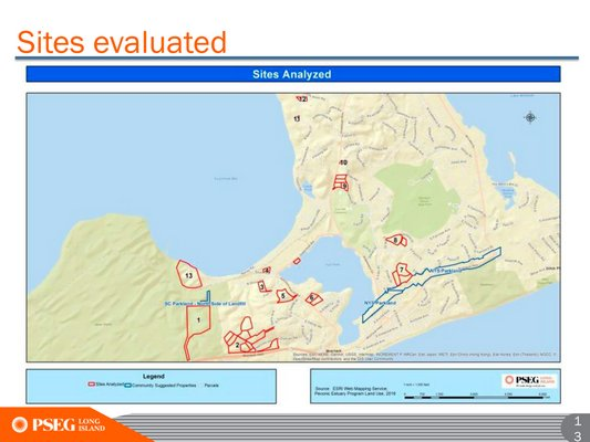 PSEG explained its process for evaluating sites for a new substation in Montauk on Tuesday.