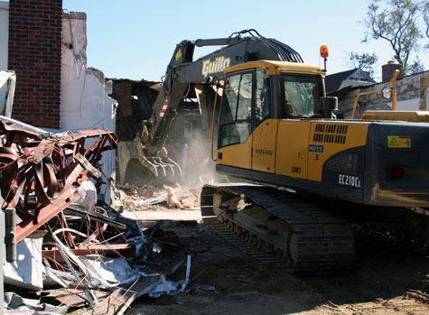 Demolition on the Westhampton Free Library annex