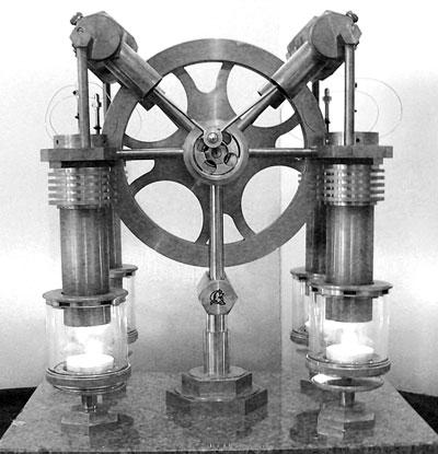 Netherlands steampunk Jos De Vink's Stirling engine