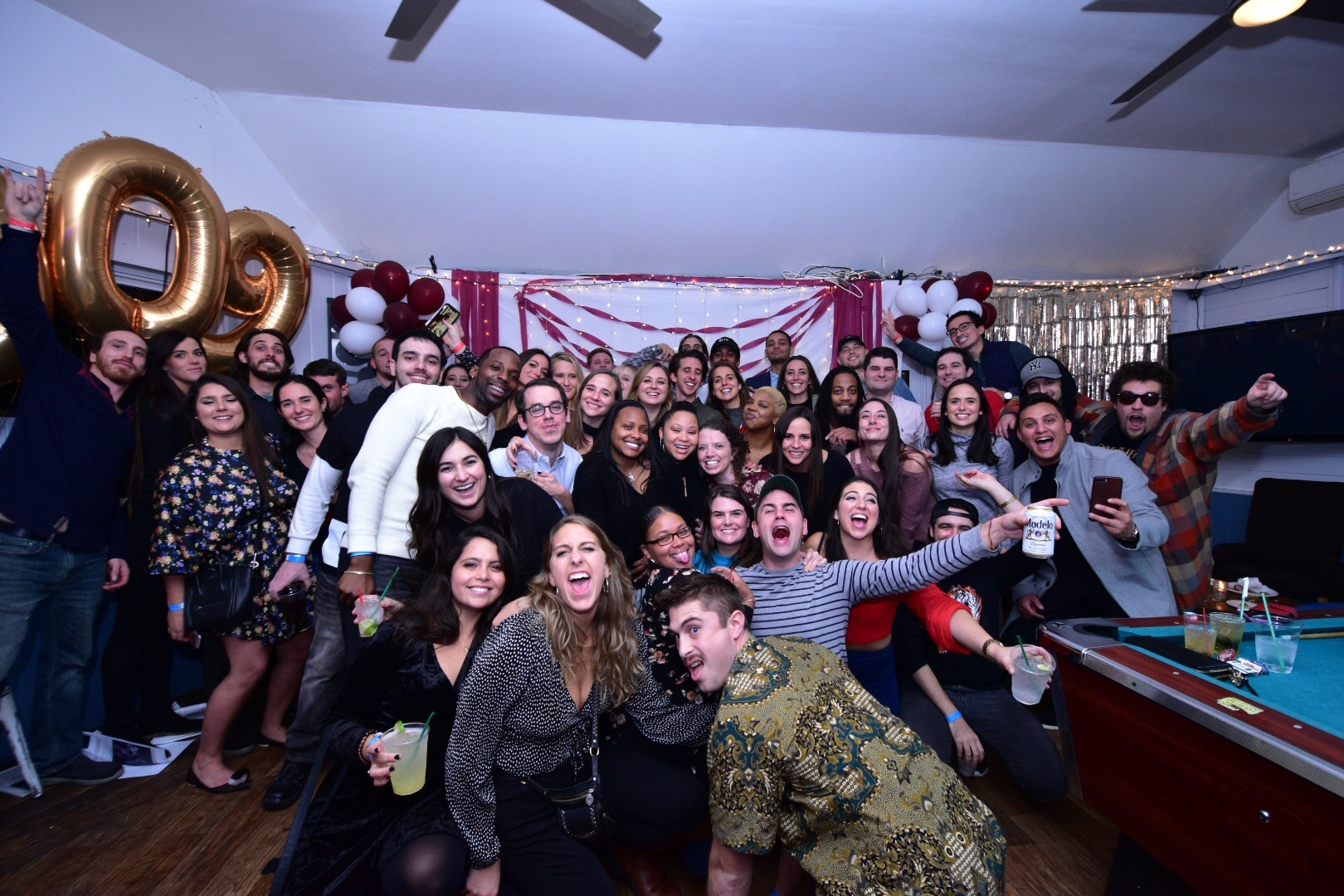 Members of the Southampton High School Class of 2009 gathered for its 10-year reunion on November 29 at the North Sea Tavern.