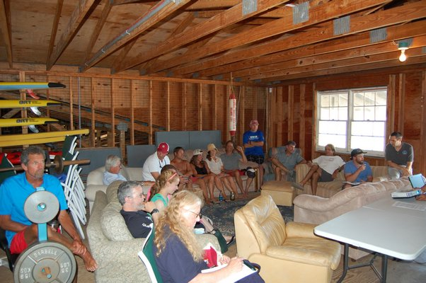 18 local residents and life guards attending the Rip Current Science and Weather seminar JON WINKLER