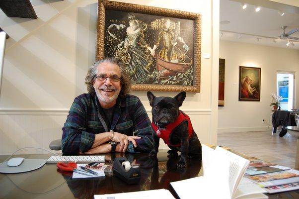Richard J. Demato at his newly opened gallery in Bridgehampton. JON WINKLER