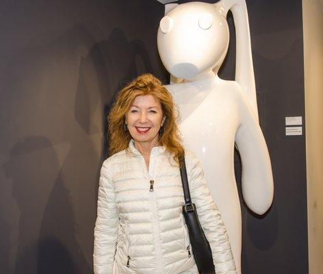 and Hans Van de Bovenkamp at the reopened RJD Gallery in Bridgehampton on Saturday night. LISA TAMBURINI PHOTOGRAPHY