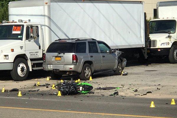 The accident scene on County Road 39 on Wednesday morning. JON WINKLER