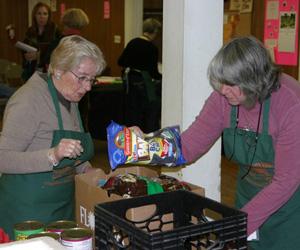 Volunteers at the Sag Harbor Community Food Pantry