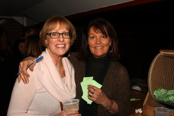 Dale Quinn and Linda Borenstein at the annual Westhampton Beach St. Patrick's Day parade fundraiser held at the Mill Roadhouse on Saturday