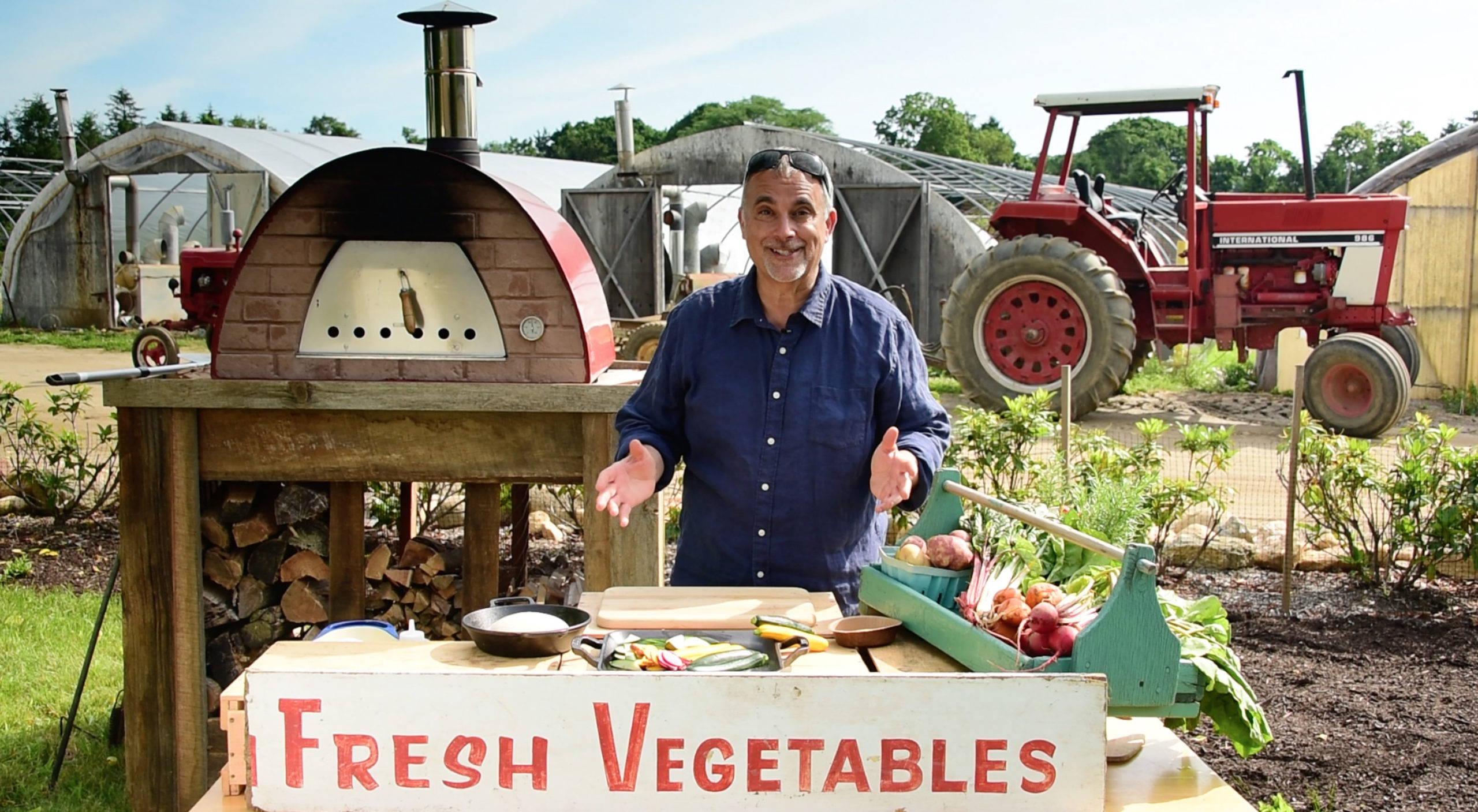 Chef George Hirsch at Seps Family Farm.