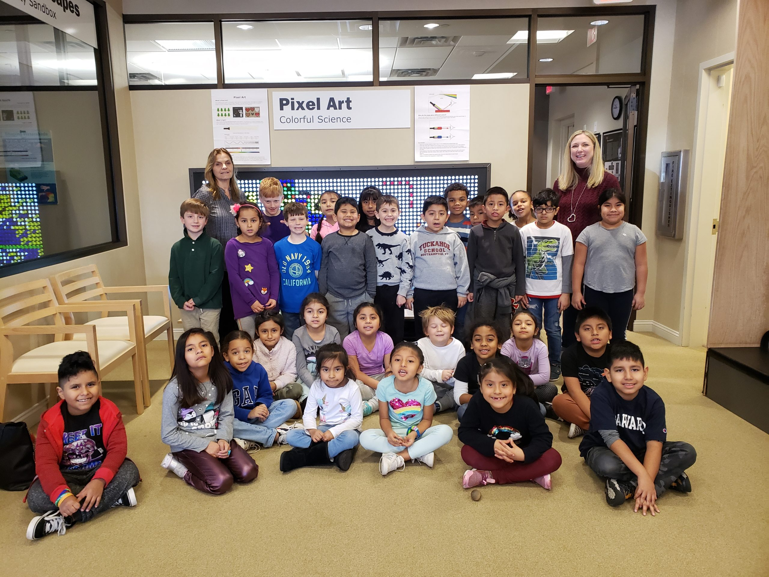 Tuckahoe School second graders in Antoinette Counihtn's and Rebecca Dansereau's classes recently visited The Long Island Science Center in Riverhead to participate in a program called The Rock Cycle. The students are learning about things that can change the surface of the earth.