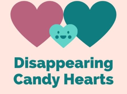 Disappearing candy hearts