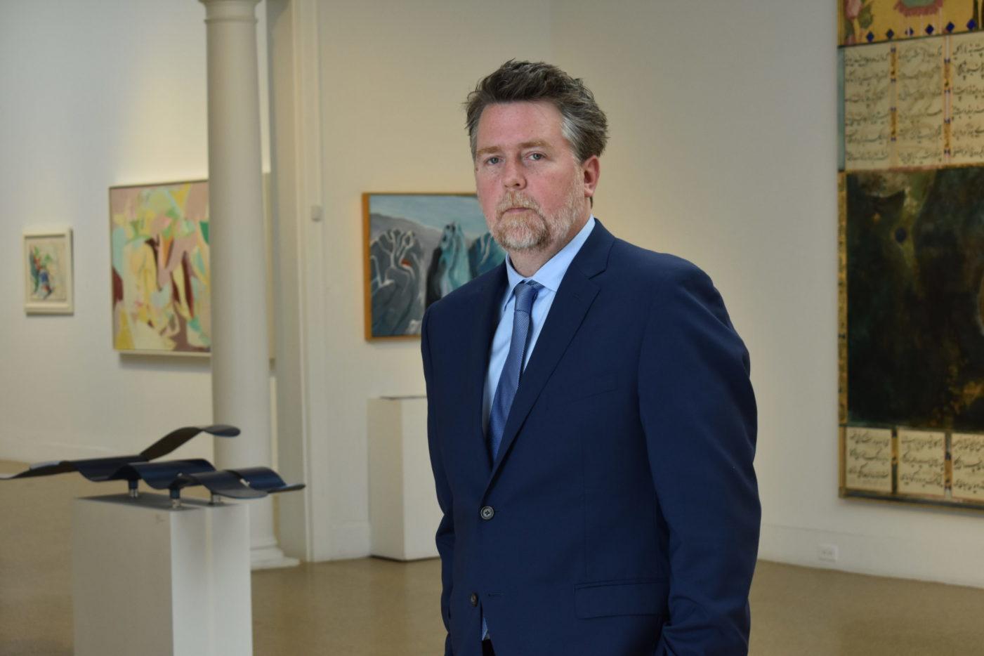 Tom Dunn of the Southampton Arts Center.