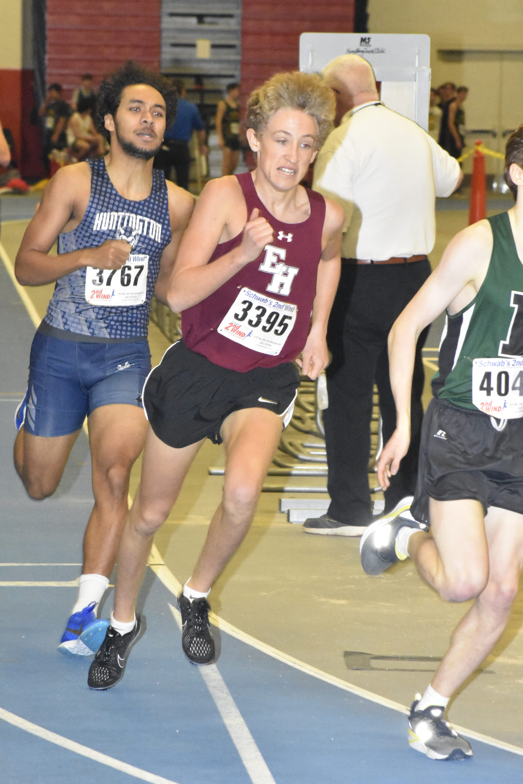 Pierson's Ben McErlean in the 600-meter run. He also ran in the mile on Saturday which he won.