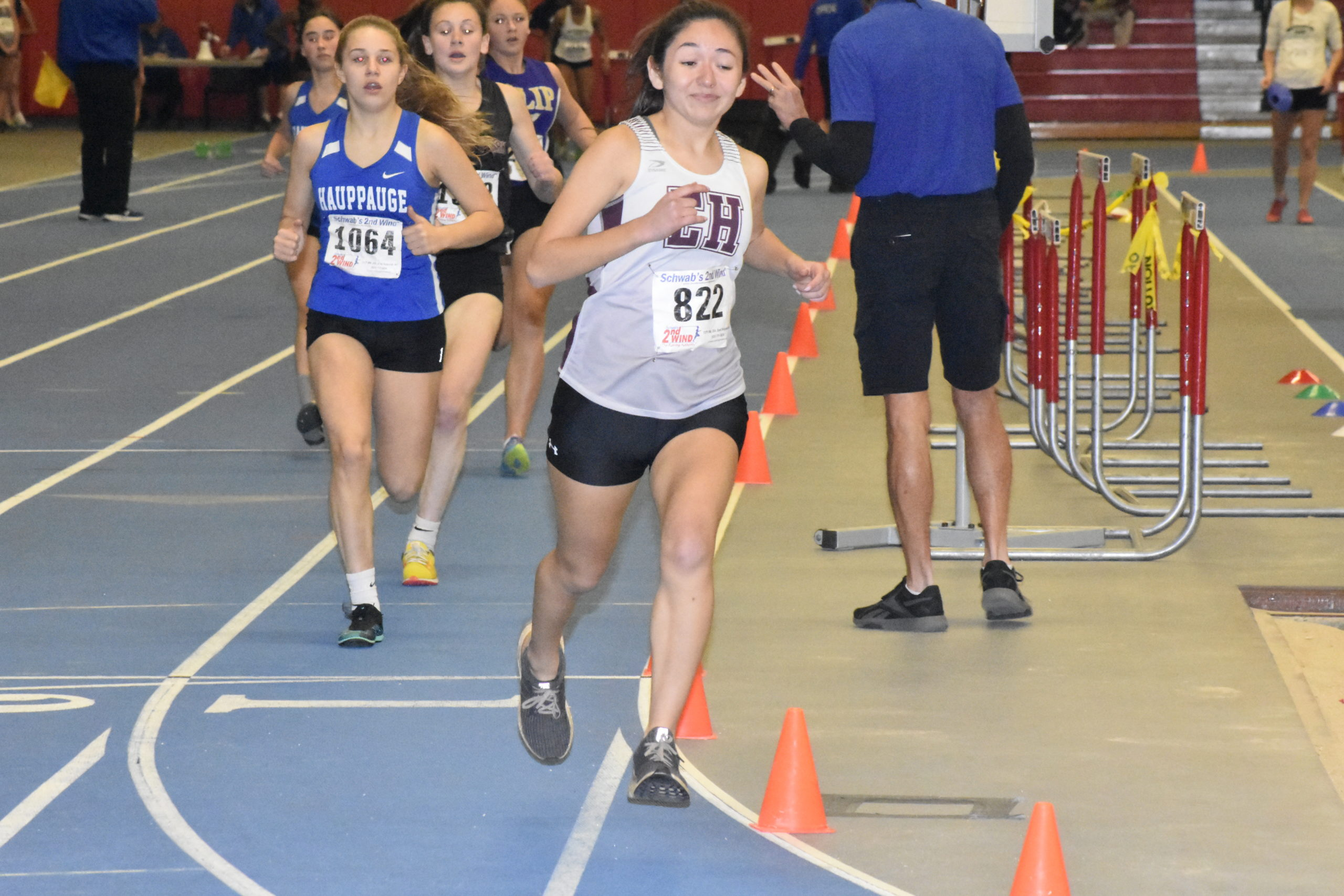 Freshman Daniela Chavez placed highest (16th) for East Hampton in the 1,000-meter race.