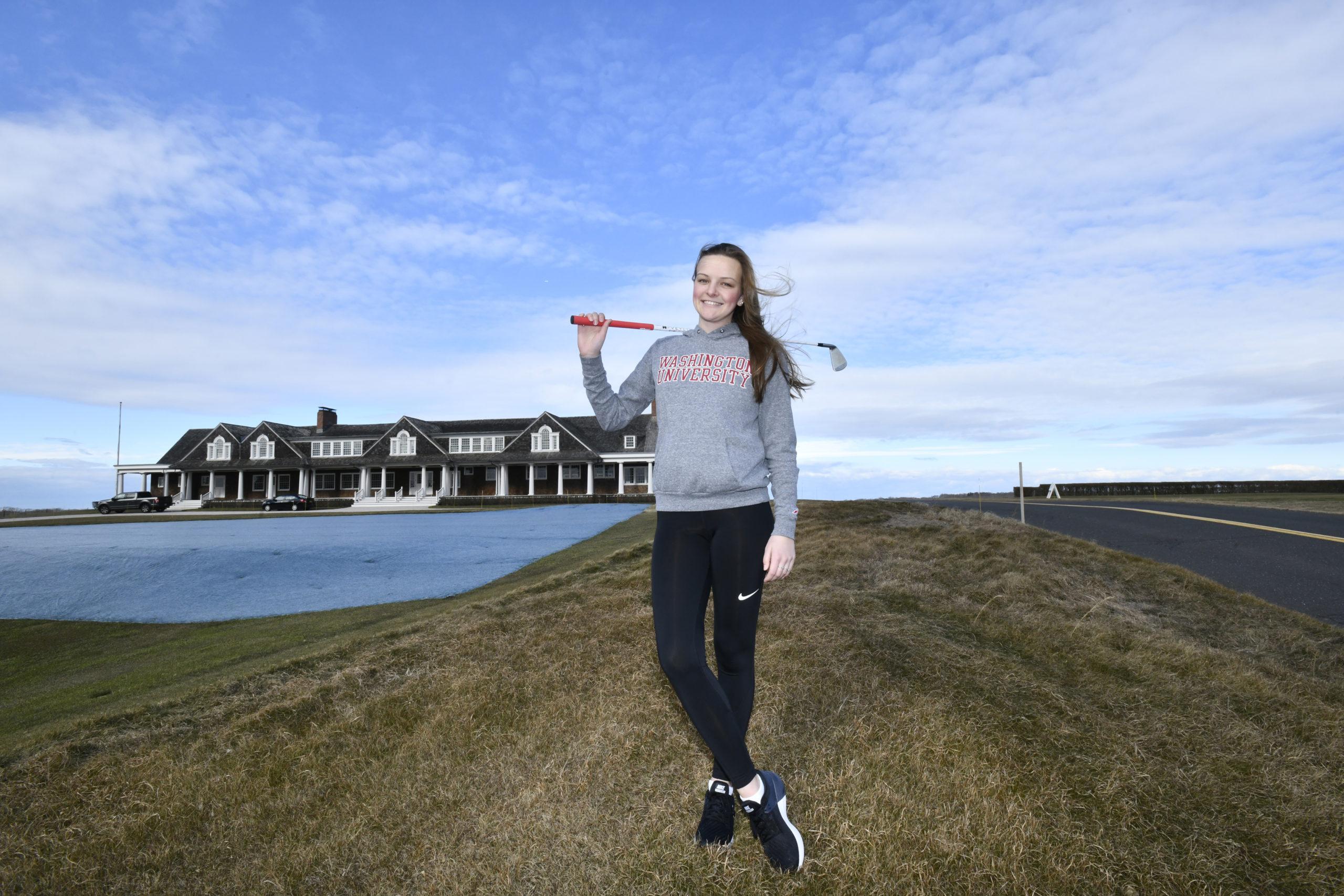 Caraline Oakley at Shinnecock Hills Golf Club on Monday.   DANA SHAW