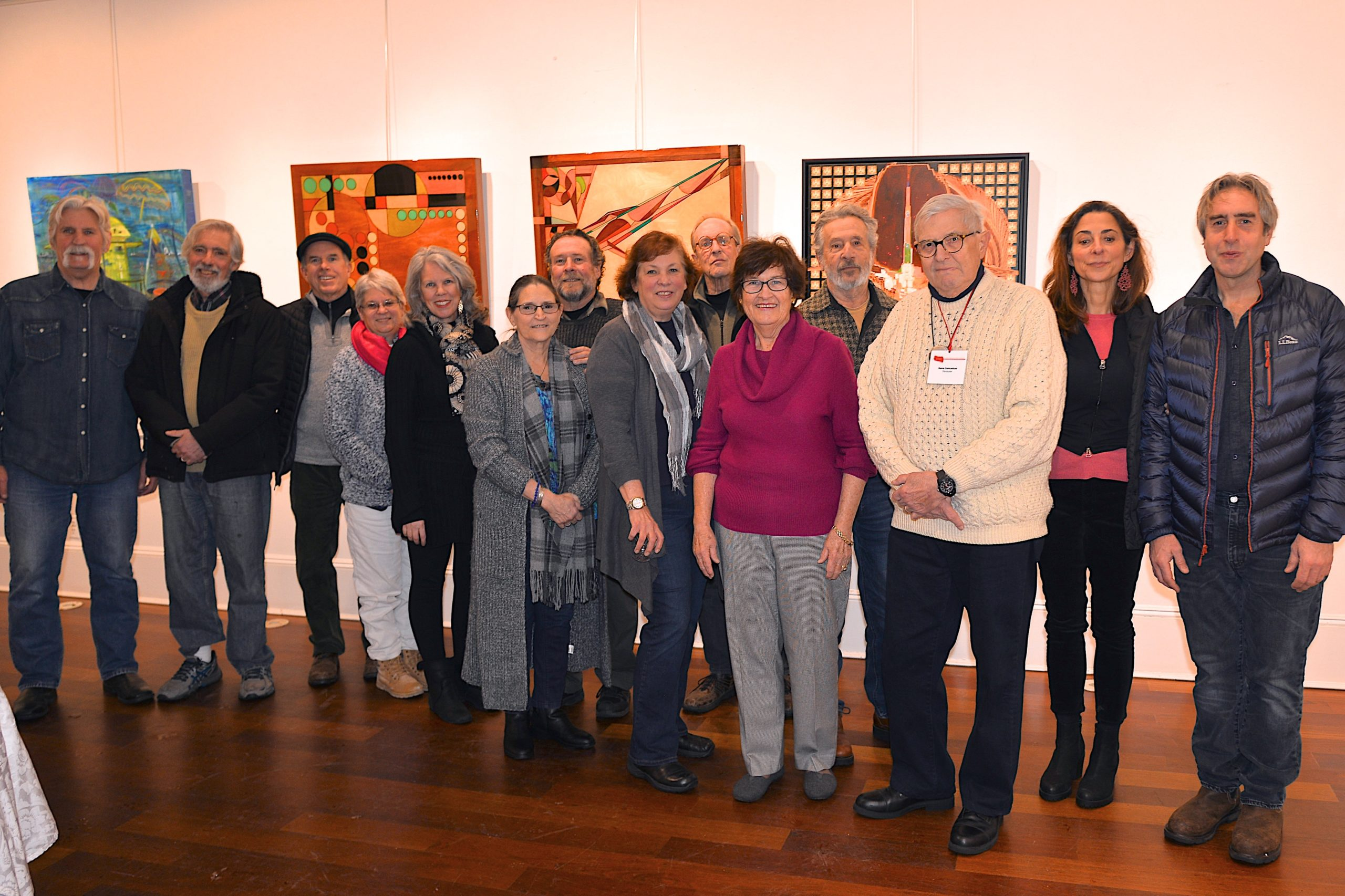 """The Artists Alliance of East Hampton opened its first exhibit of the year, """"Wall Of Dreams,"""" at Ashawagh Hall on Saturday evening.  KYRIL BROMLEY"""