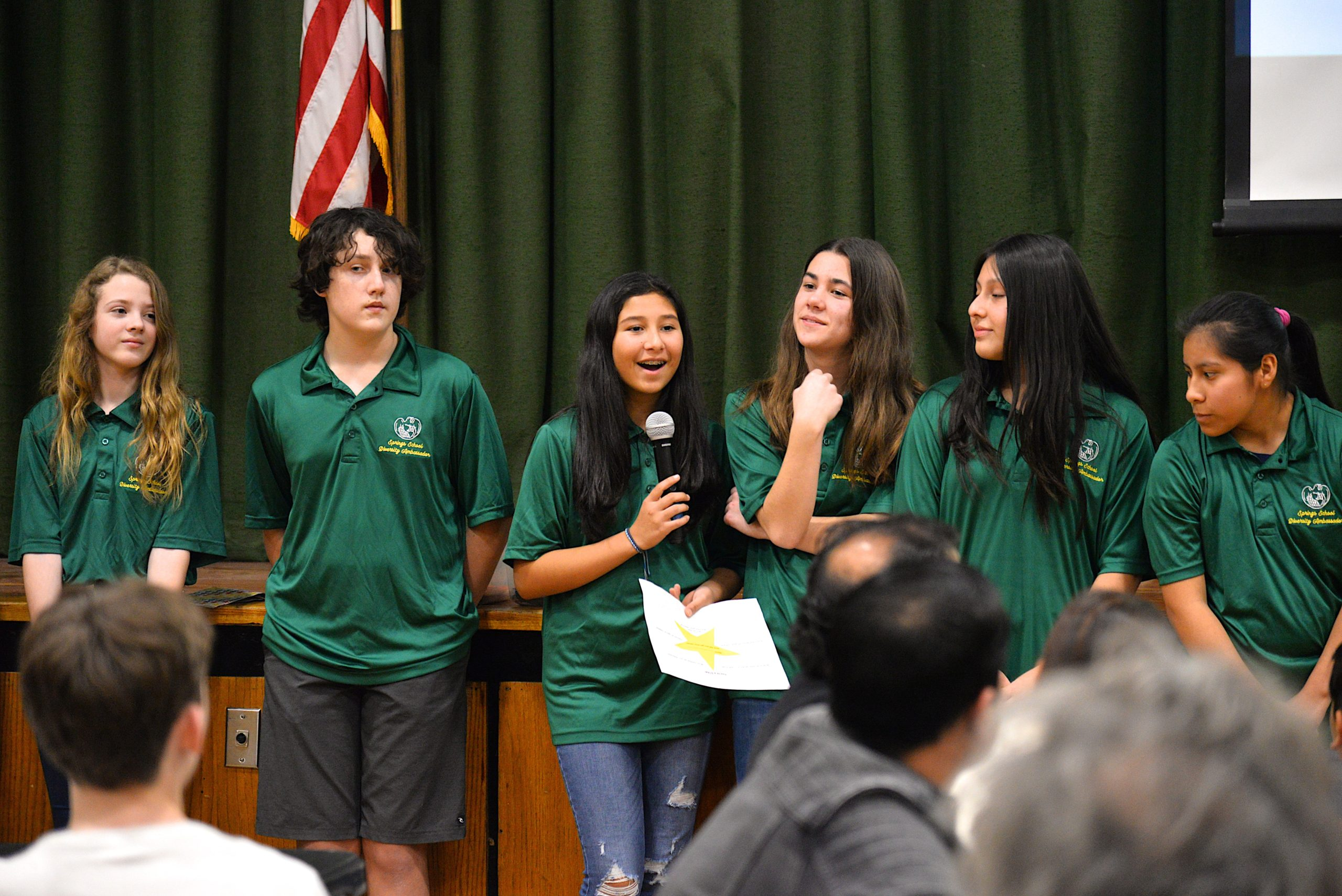 Springs School students led the Diversity Institute program at the school on Friday. KYRIL BROMLEY