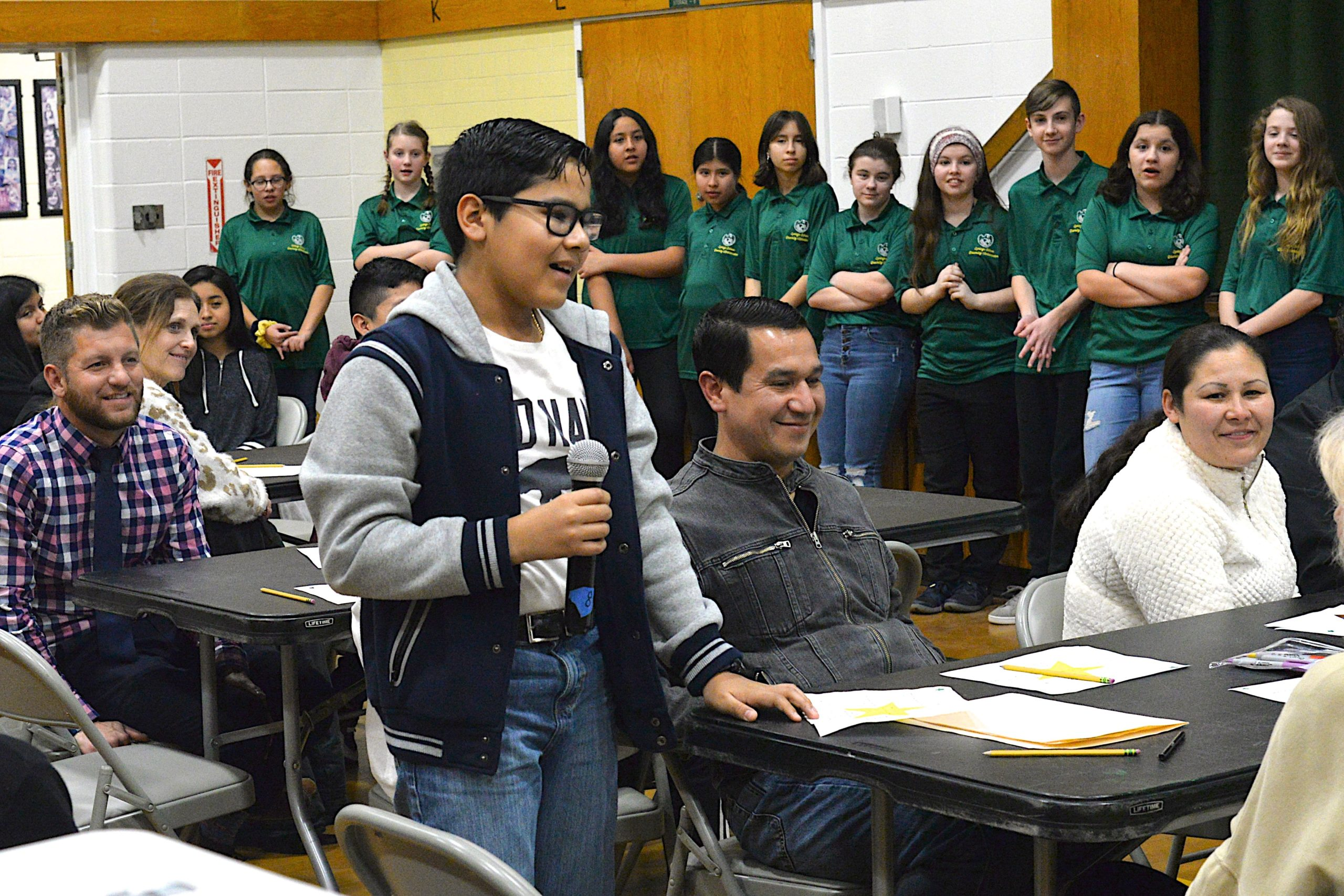 Springs School sixth grader Marcos Munoz takes part in an exercise at the Springs School's Diversity institute on Friday. KYRIL BROMLEY