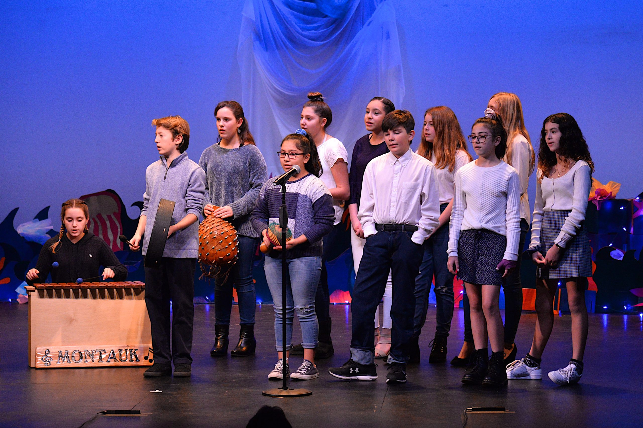 The Student Arts Festival opened at Guild Hall on Saturday with a reception. The Montauk School chorus performed. KYRIL BROMLEY