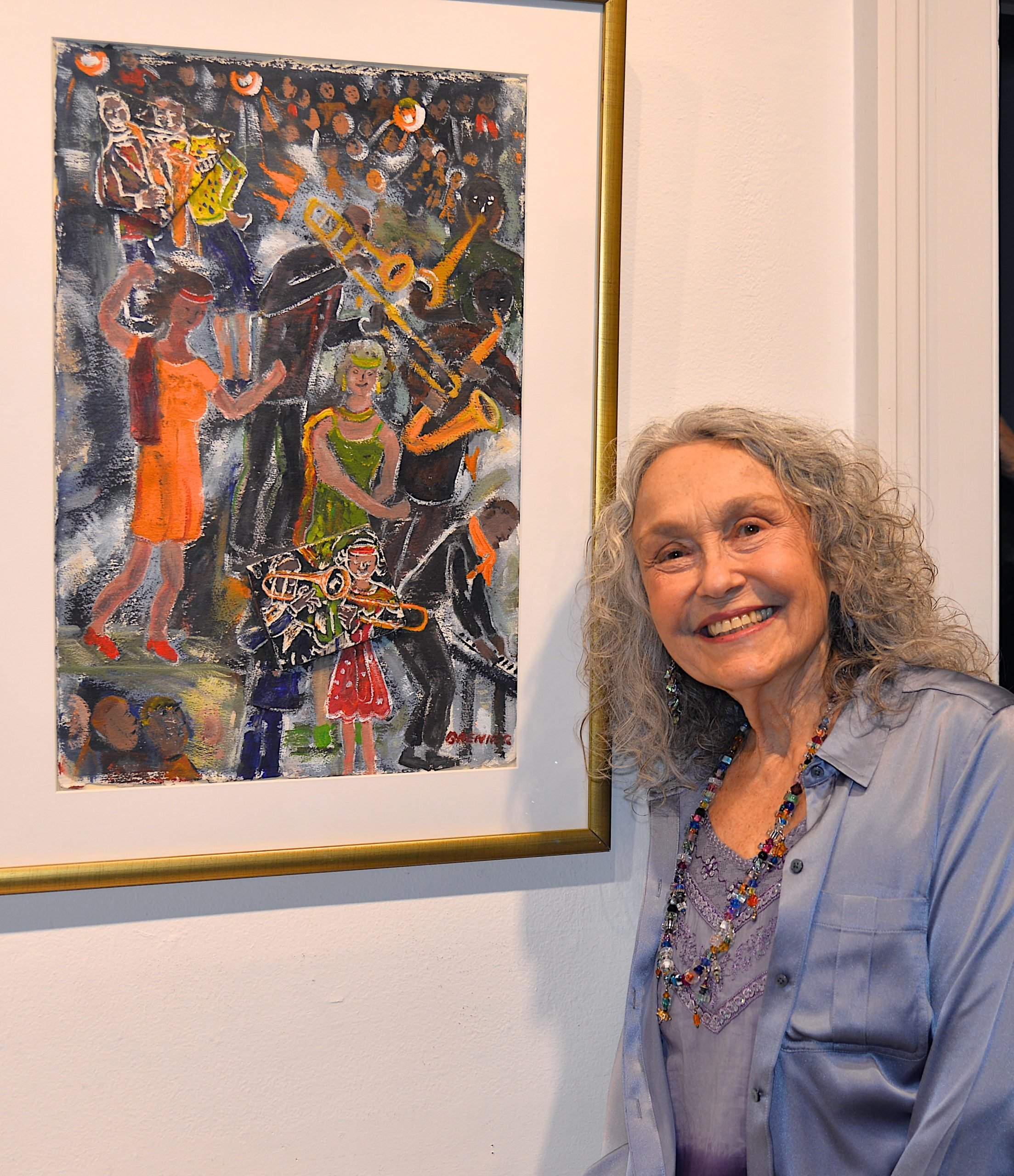 The Love And Passion art show, curated by Karyn Mannix, opened at Ashawagh Hall last weekend and featured art work, music, dancing and poetry.  Rosalind Brenner with her art work. KYRIL BROMLEY