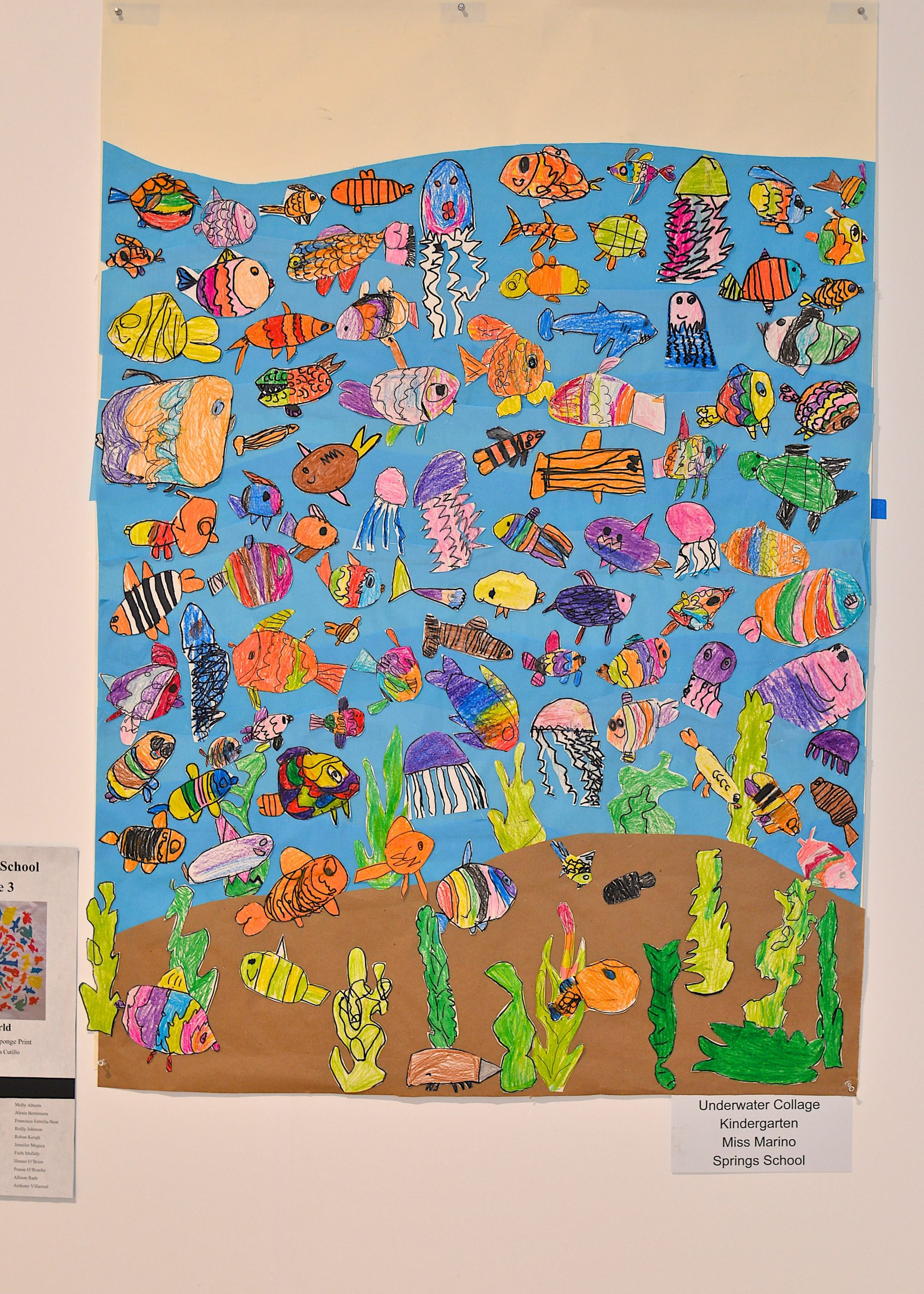 An underwater collage by Miss Marino's kindergarten class at the Springs School.   KYRIL BROMLEY
