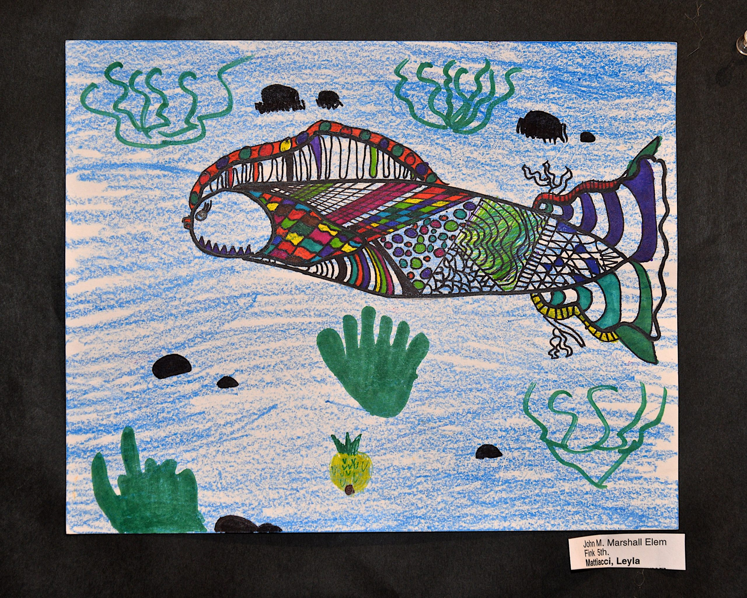 A work from John Marshall School 5th grade student Leyla Mattiacci.     KYRIL BROMLEY