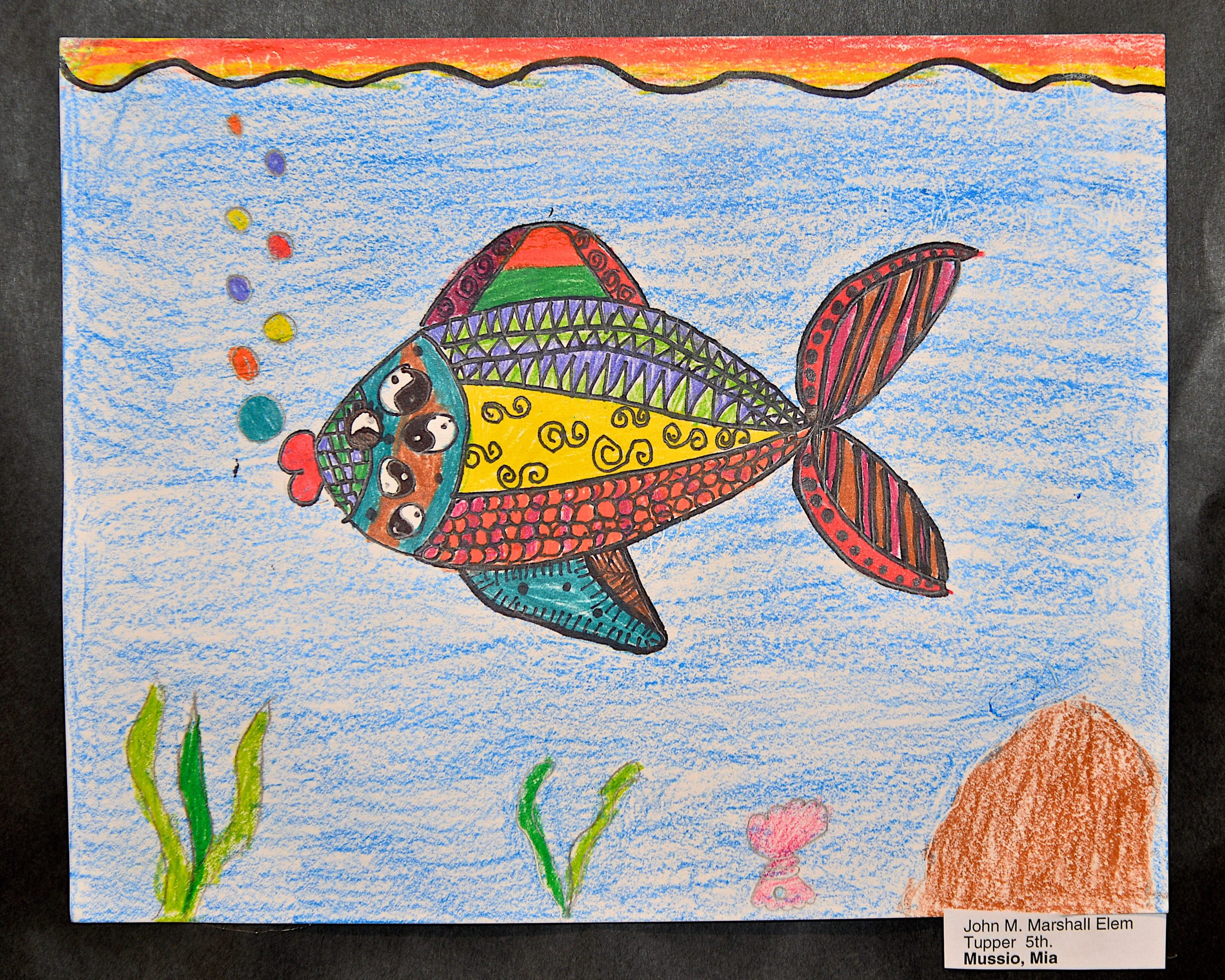 A work from John Marshall Elementary School 5th grade student Mia Mussio.     KYRIL BROMLEY