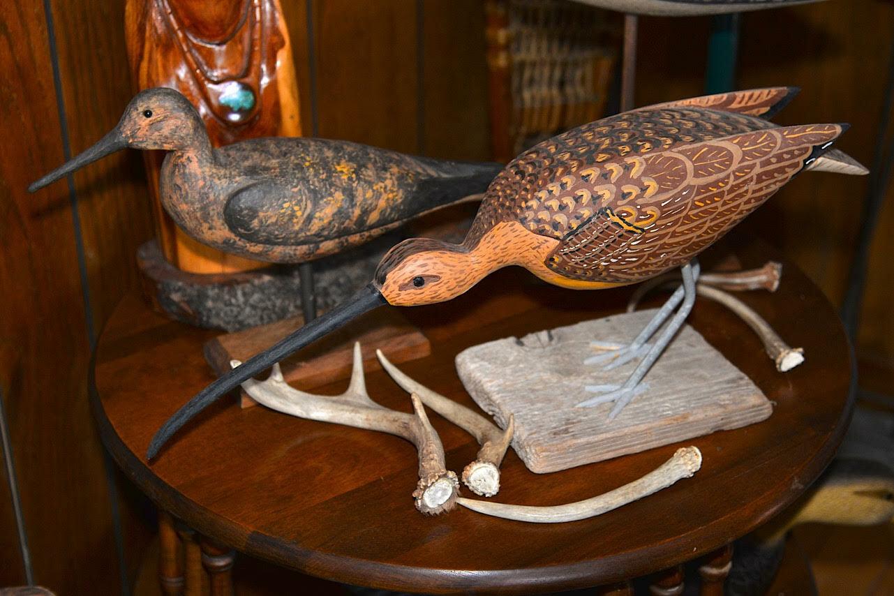 Dave Bennett's bird decoys.