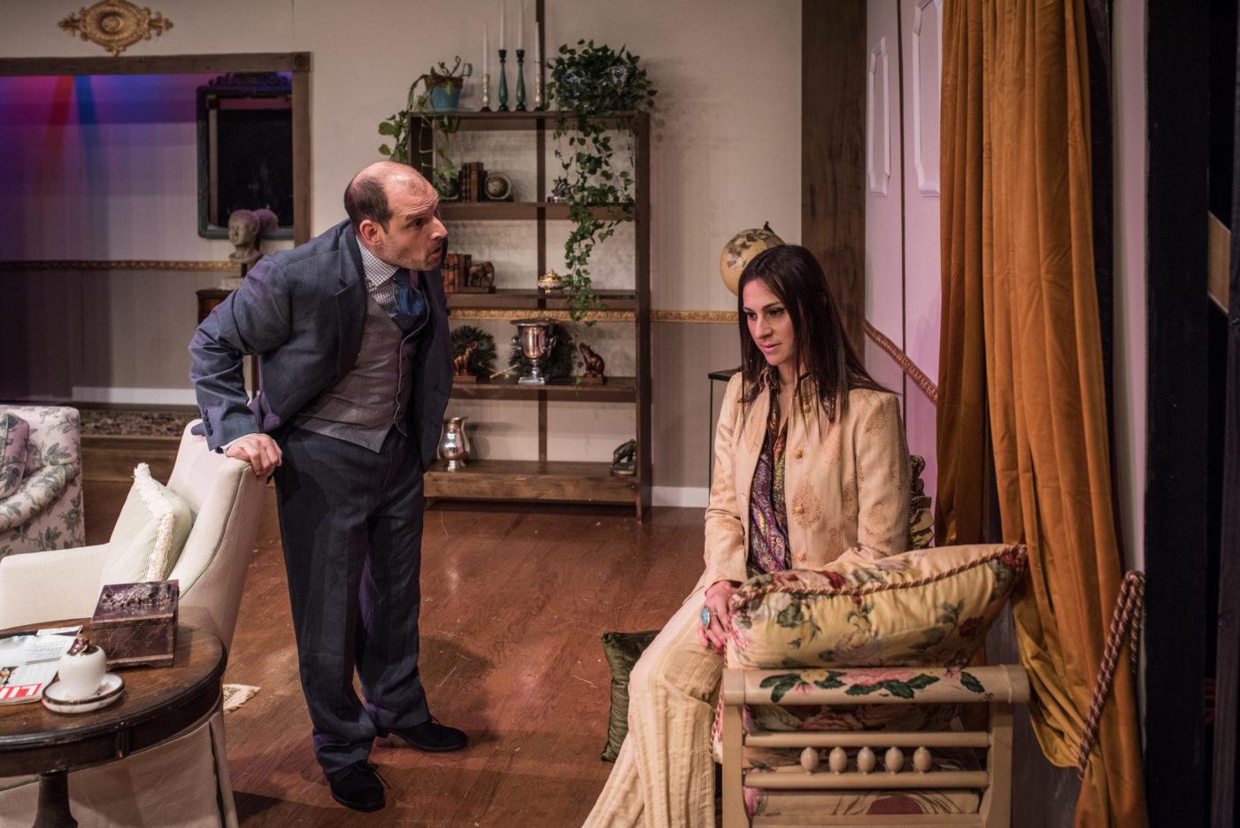 John Leonard and Tamara Salkin as Tobias and Julia in Edward Albee's