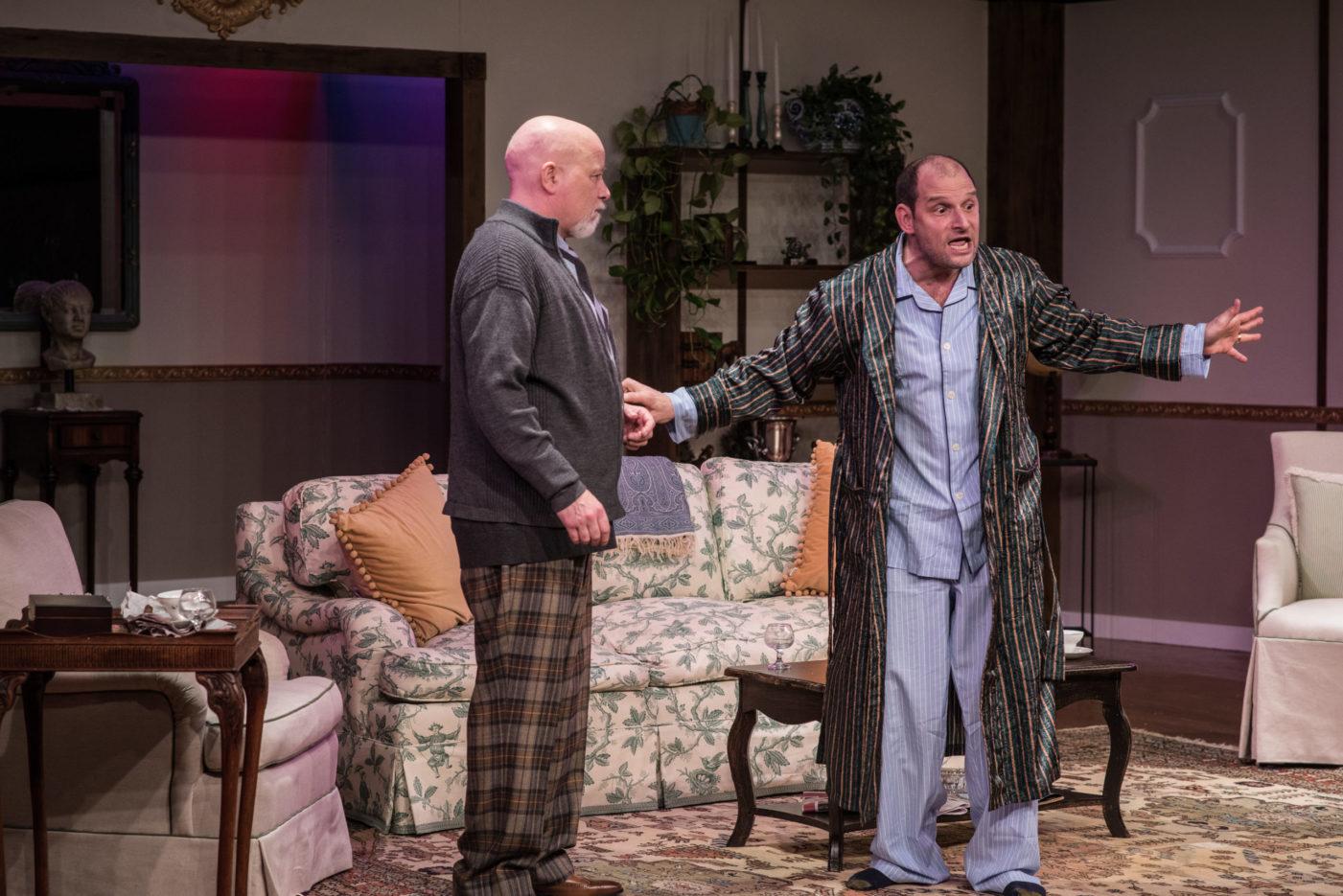 Scott Wilson as Harry and John Leonard as Tobias in Edward Albee's