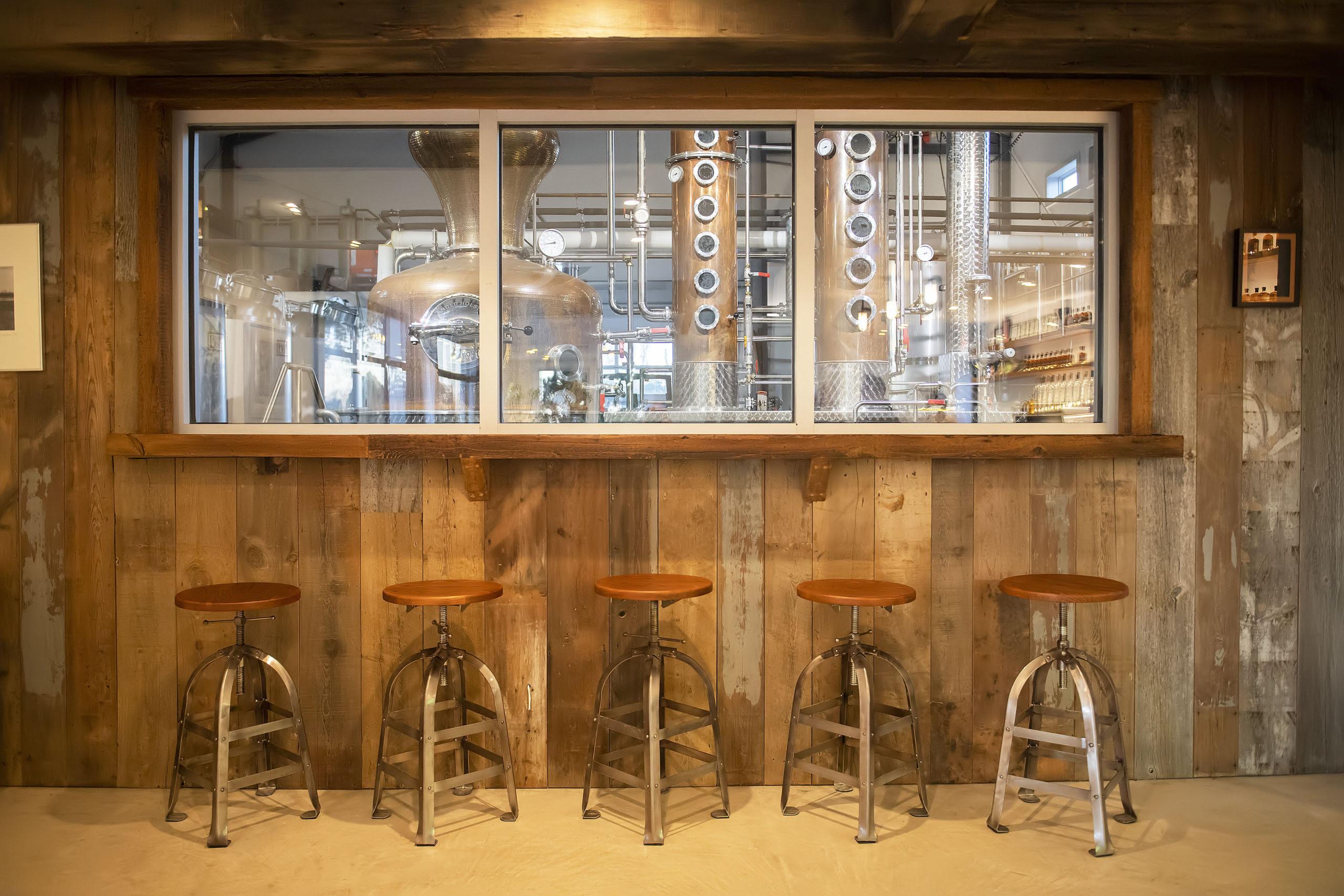 Visitors can view distilling equipment. MICHAEL HELLER