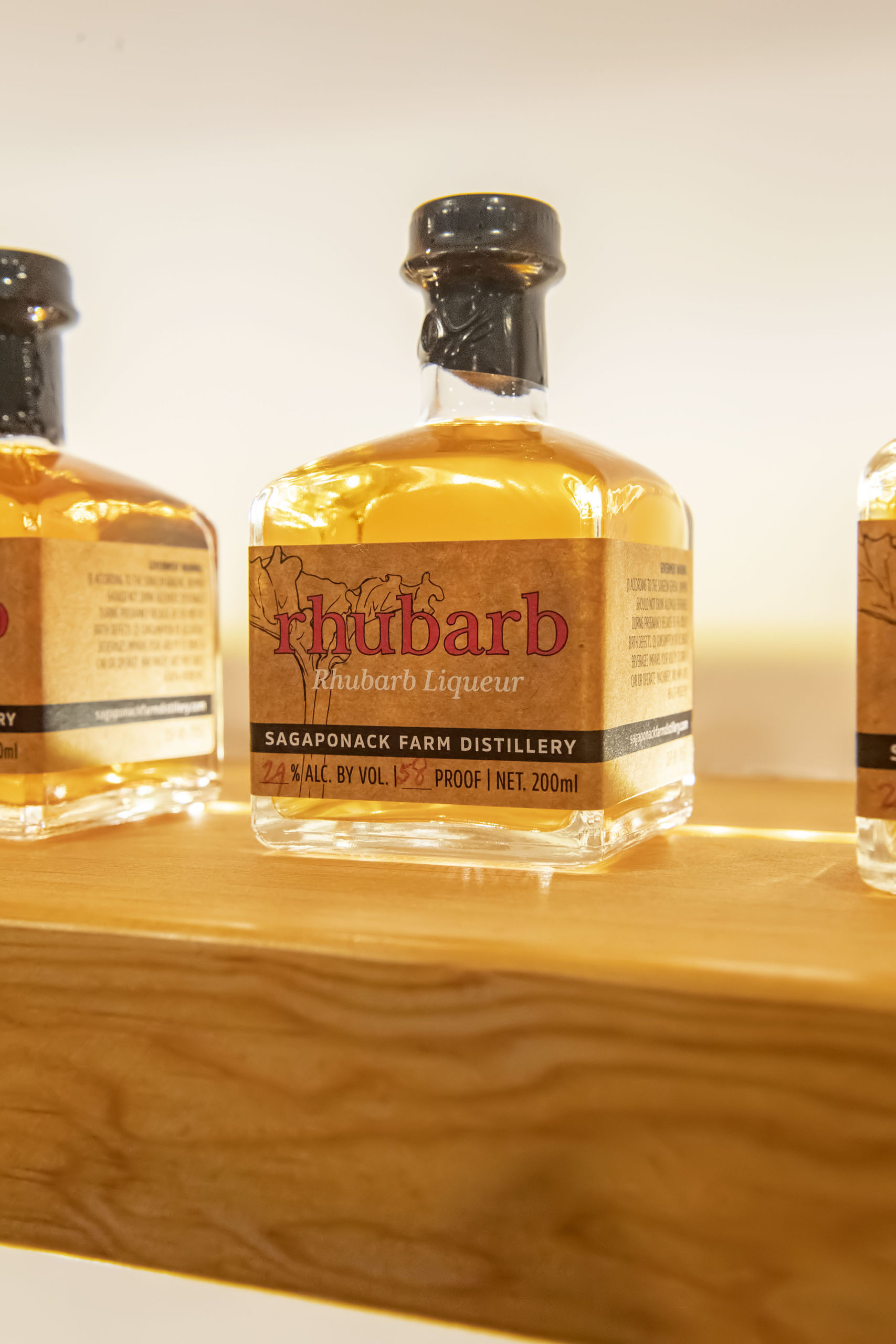 Rhubarb liqueur is  distilled from local produce. MICHAEL HELLER