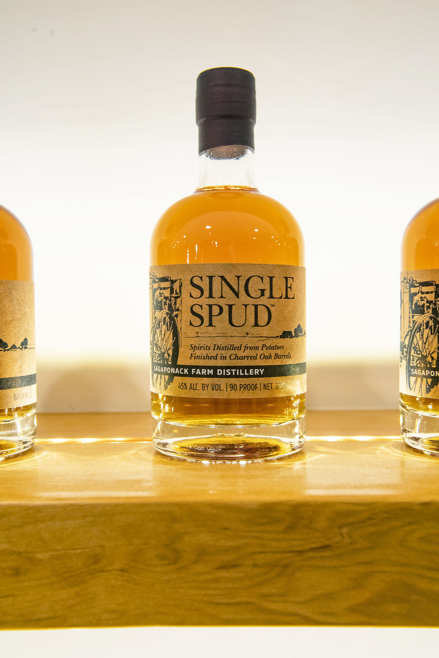 Single Spud, a spirit distilled from potatoes and finished in an oak barrel. MICHAEL HELLER
