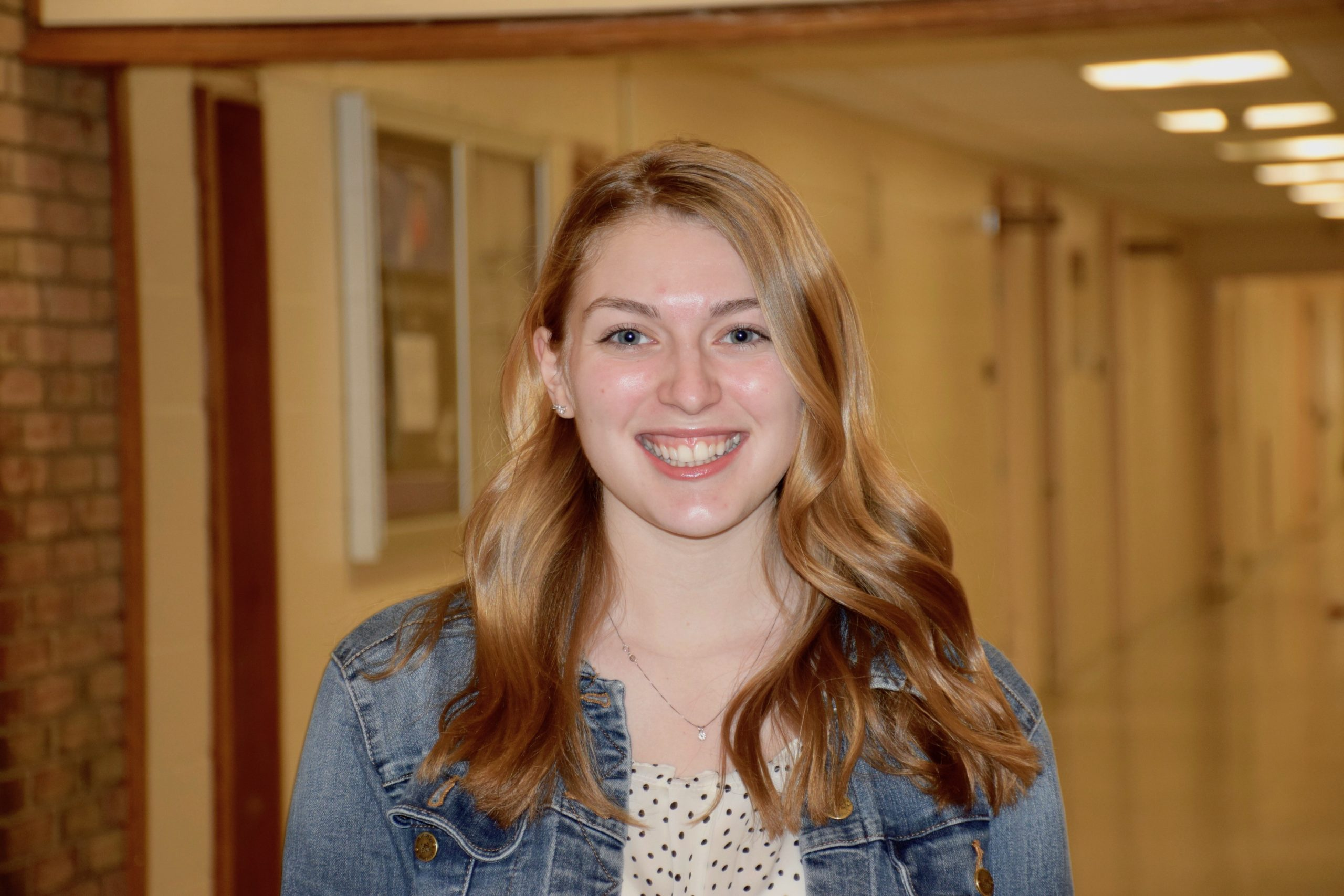 """Hampton Bays High School senior Julia Heming earned third place in the New York State VFW Voice of Democracy essay contest for her entry, """"What Makes America Great."""" In her essay, she argued that America is great for one single reason, its diversity. The daughter of a U.S. Navy vet,she has ancestors on both parents' sides who can be traced back to the Mayflower, as well as an ancestor who was an original signer of the Declaration of Independence. She is editor-in-chief of her school's newspaper, The Tide, has been an intern for The Southampton Press. She is also a member of her school's Key Club and coaches cheer at Our Lady of the Hamptons Regional Catholic School and plans to study journalism in college."""