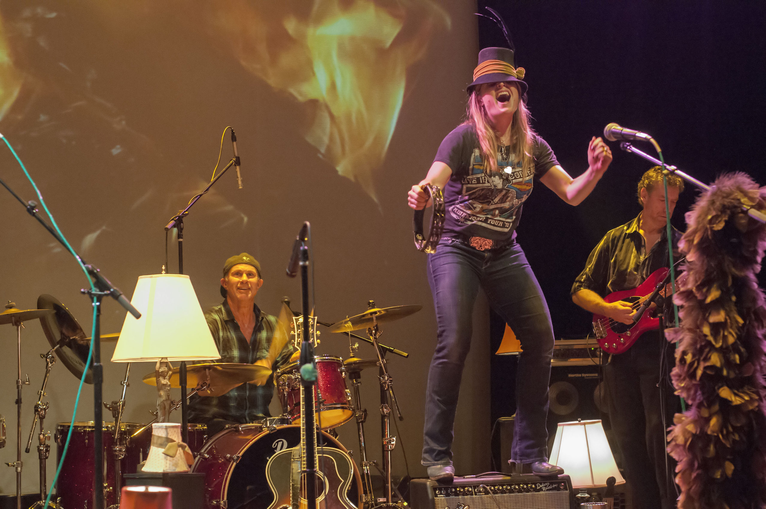 Nancy Atlas performing at Bay Street Theater during the first Fireside Session on January 3, 2014.