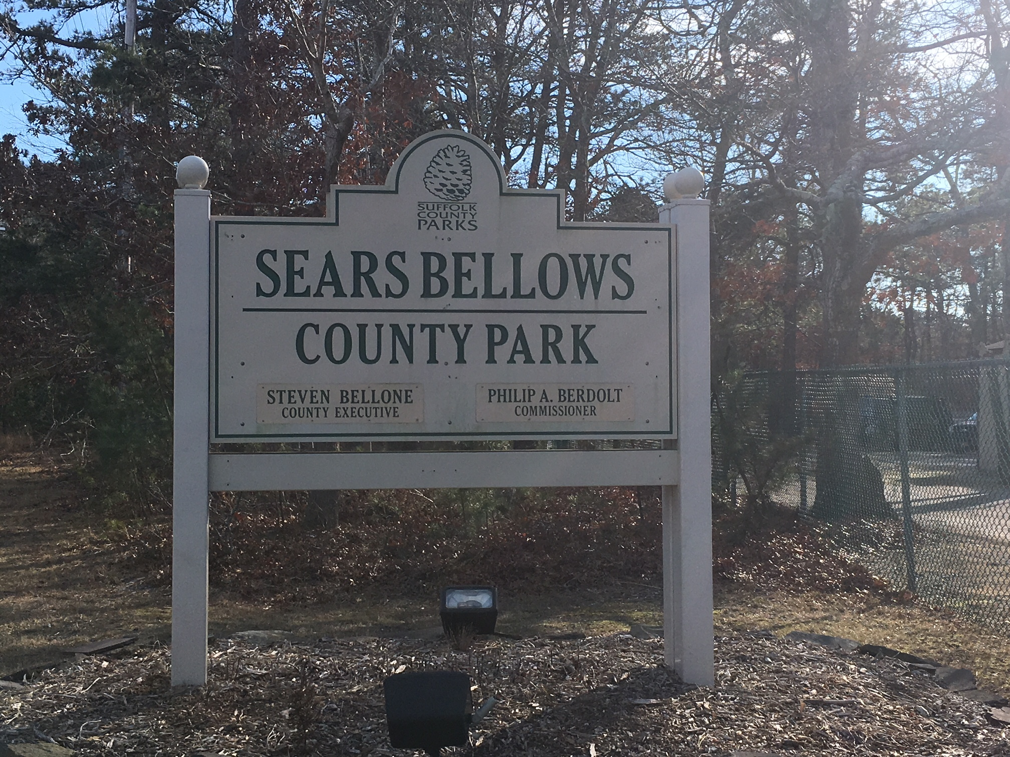 Southampton Town Police rescued hikers lost in Sears Bellows Park on Monday. KITTY MERRILL