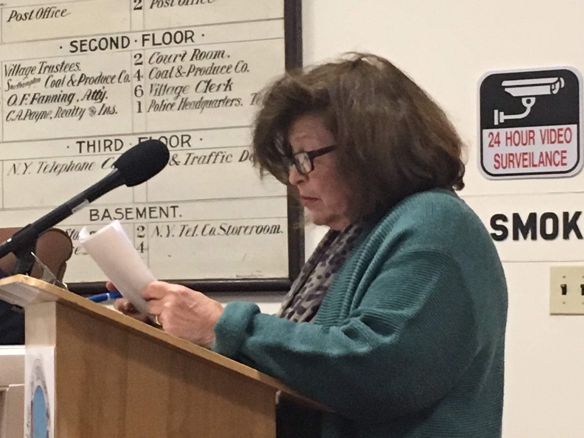 Board wather Francis Genovese confronted the Southampton Village Board about the mysterious Freedom of Information probe. KITTYMERRILL