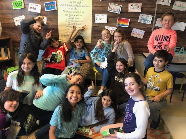 East Quogue Elementary School fifth graders kicked off the new year by identifying one word to summarize goals for 2020 and action steps to accomplish them.