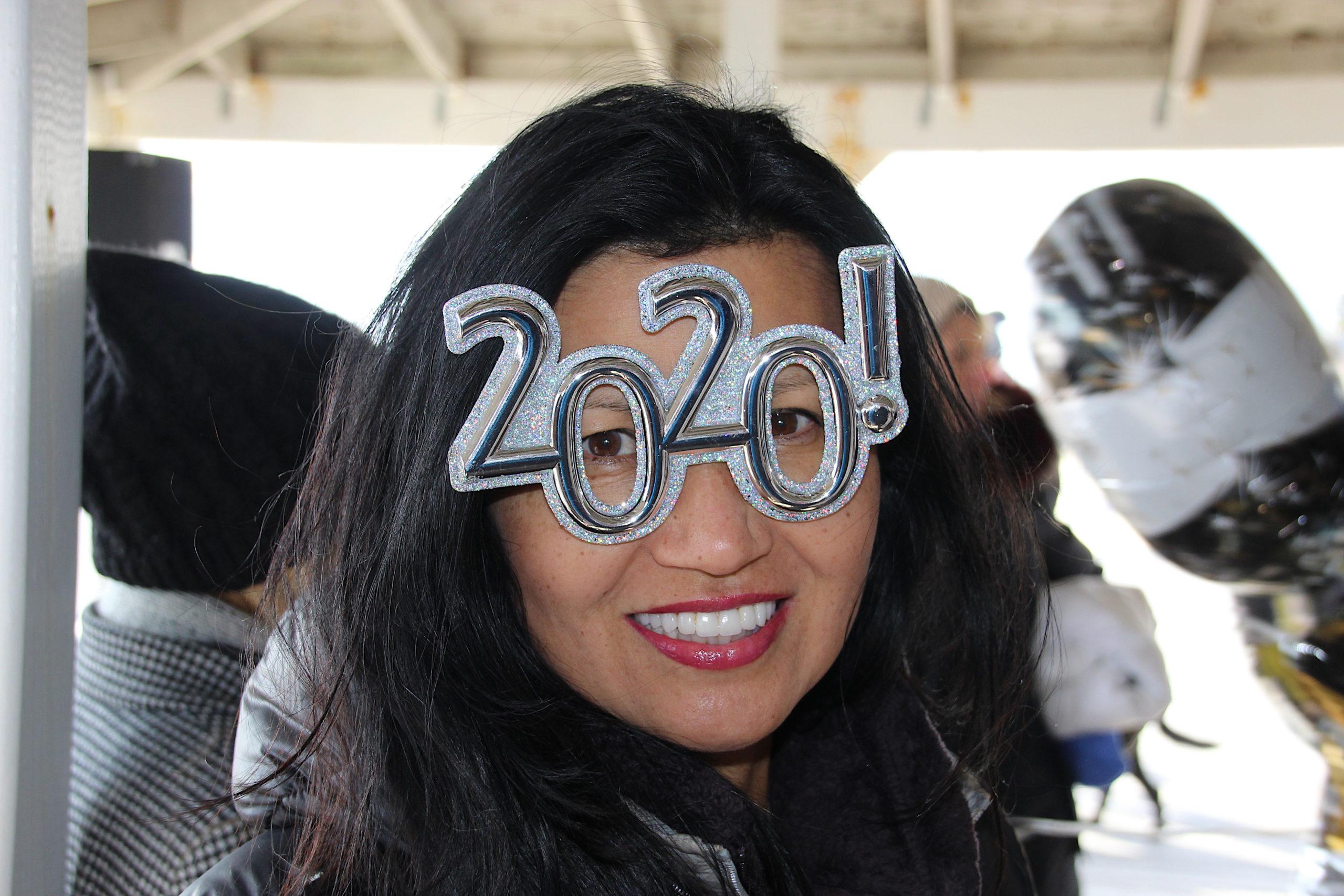 The East Hampton Polar Bear Plunge on New Year's Day.
