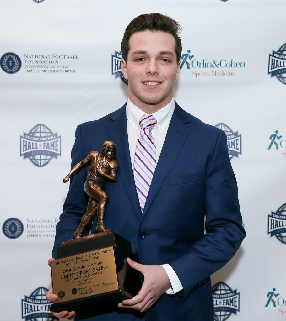 Chris Daleo was the recipient of the inaugural James C. Metzger Top Scholar Athlete Award.