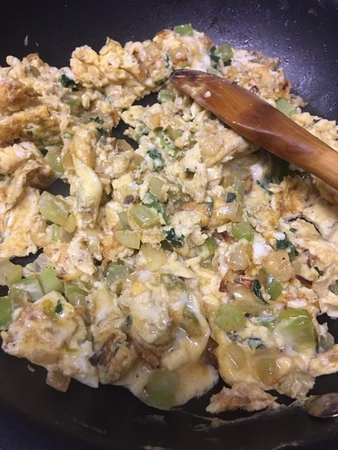 Curried scrambled eggs.