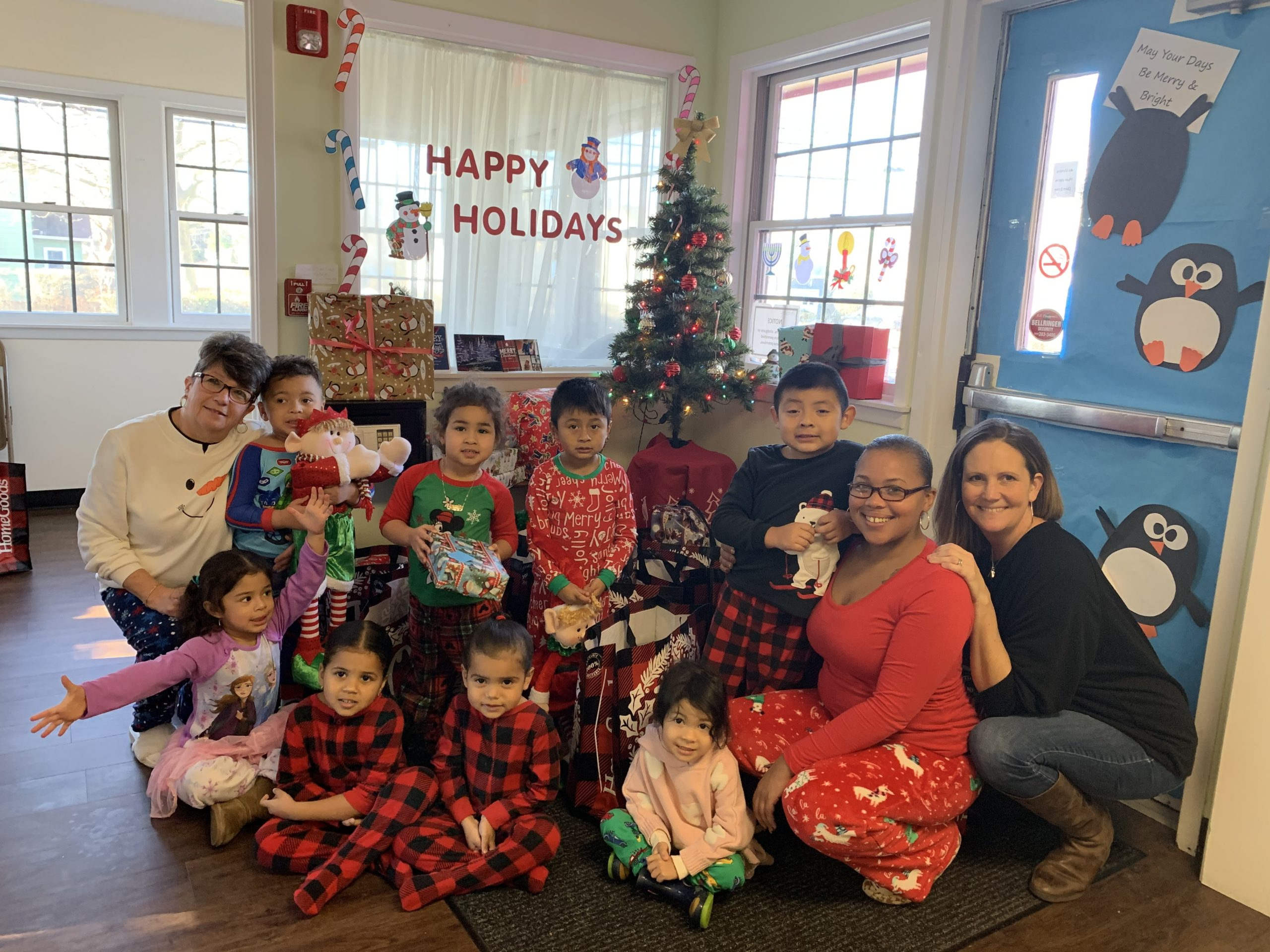 Susan Hovdesven and Brianna Ottati, real estate agents at the Southampton office of Douglas Elliman enlisted the help of their colleagues to bring some holiday cheer to the children at the nonprofit Southampton Day Care Center, which serves as safe, nurturing, low-cost day care service for low income working families. They brought special gifts to all 21 children and hosted a pizza party, with pizza donated by Paul's Italian American Restaurant, to hand them out.