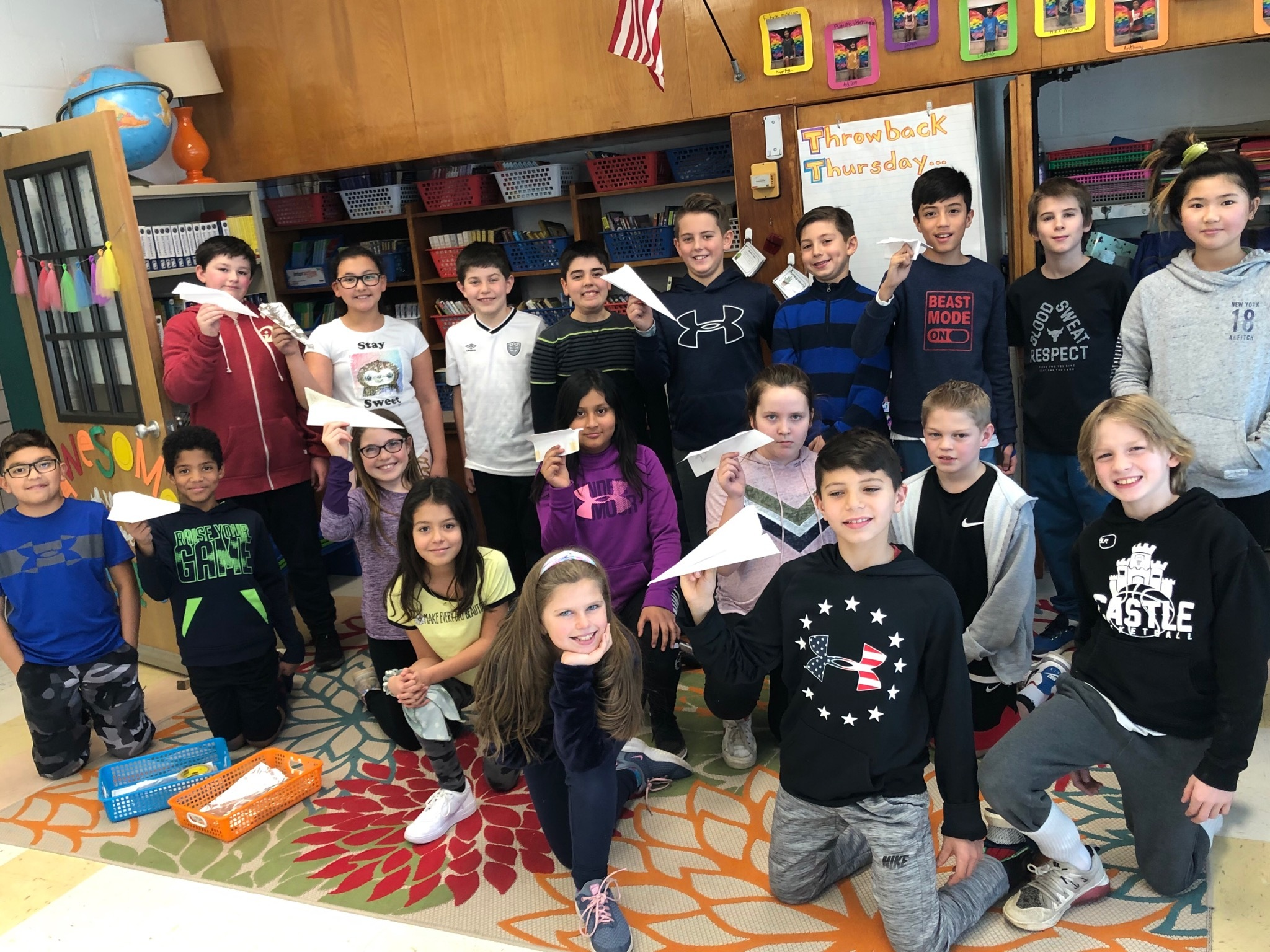 Stacey York's fifth graders at East Quogue Elementary School are reading the novel