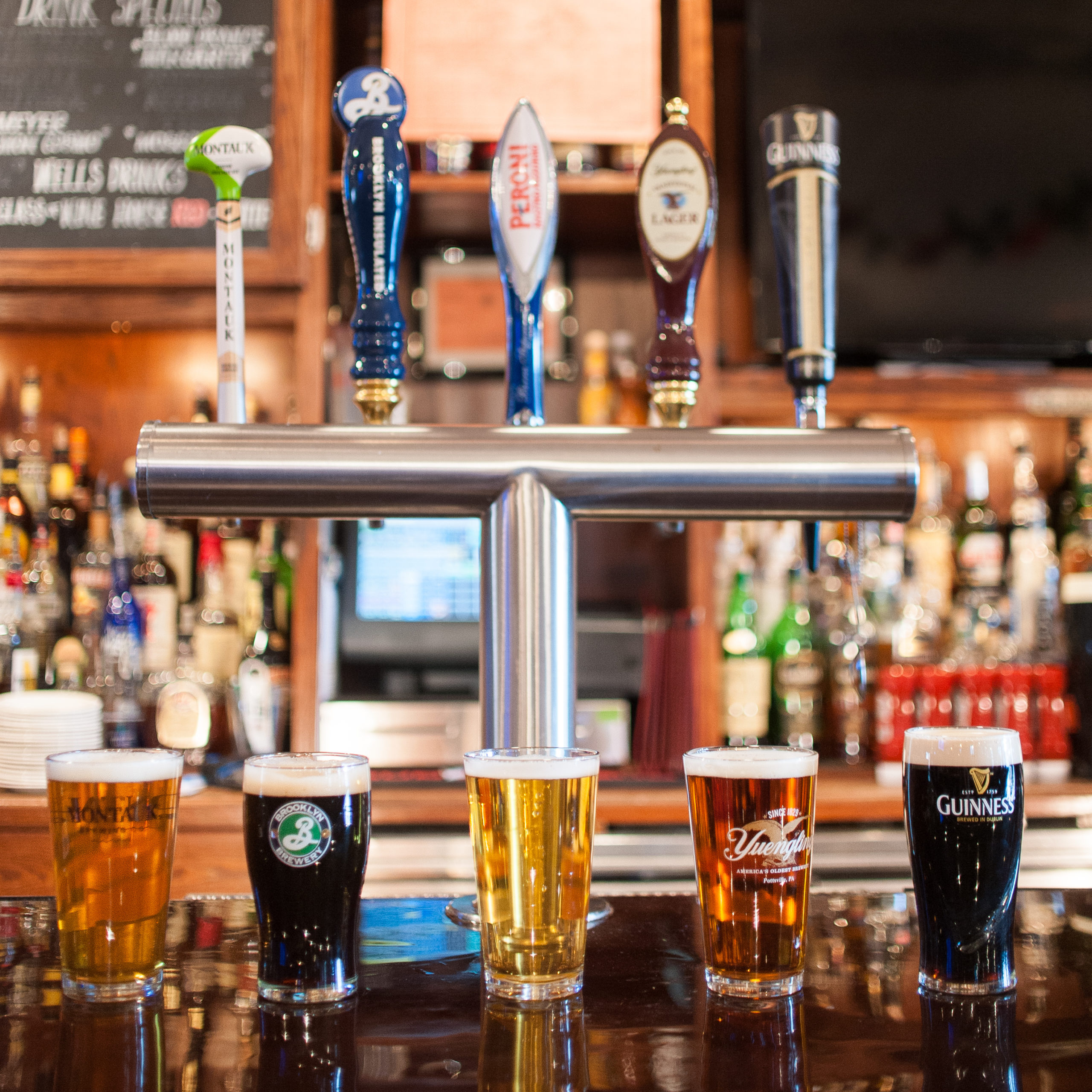 Beers on tap at Indian Wells Tavern.